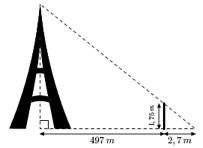Calcul De La Hauteur De La Tour Eiffel Theoreme De Thales Exercice 3eme