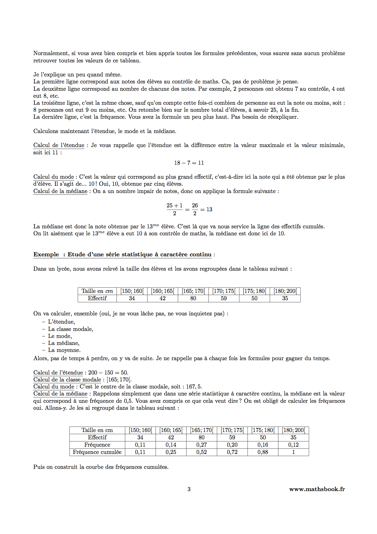 etude serie statistique moyenne