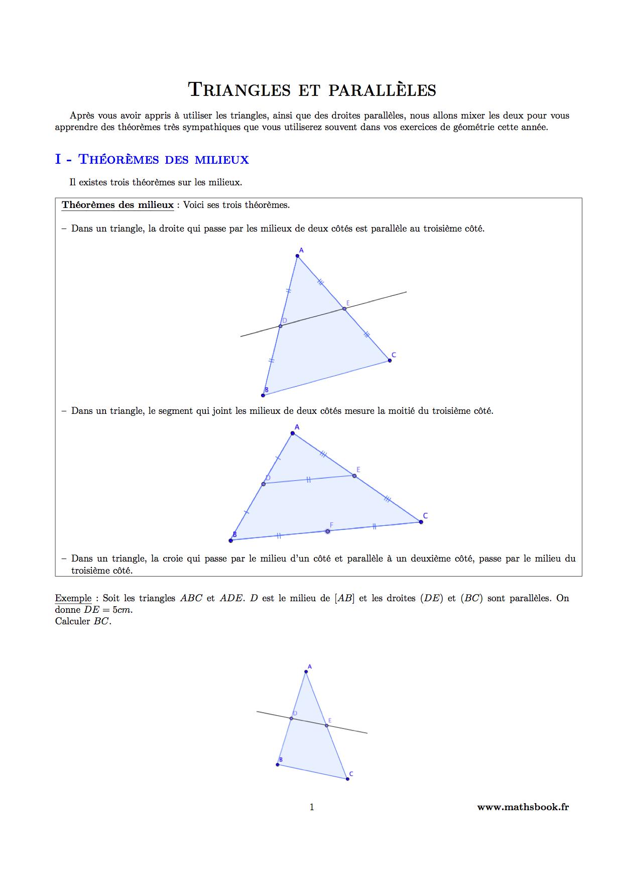 exercice math 4eme thales