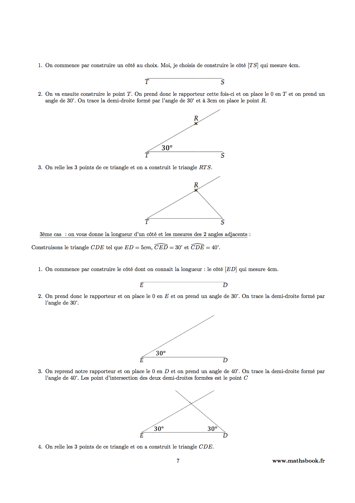 Triangles cours pdf imprimer maths 5 me for Cours de construction pdf
