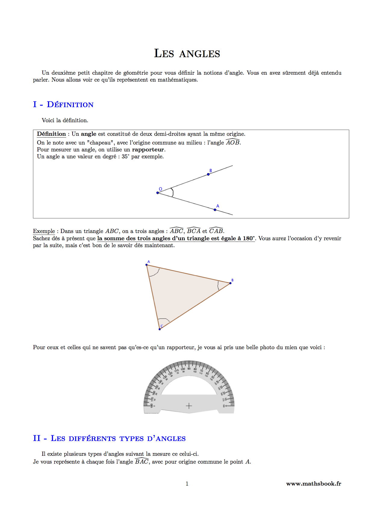 les angles pdf