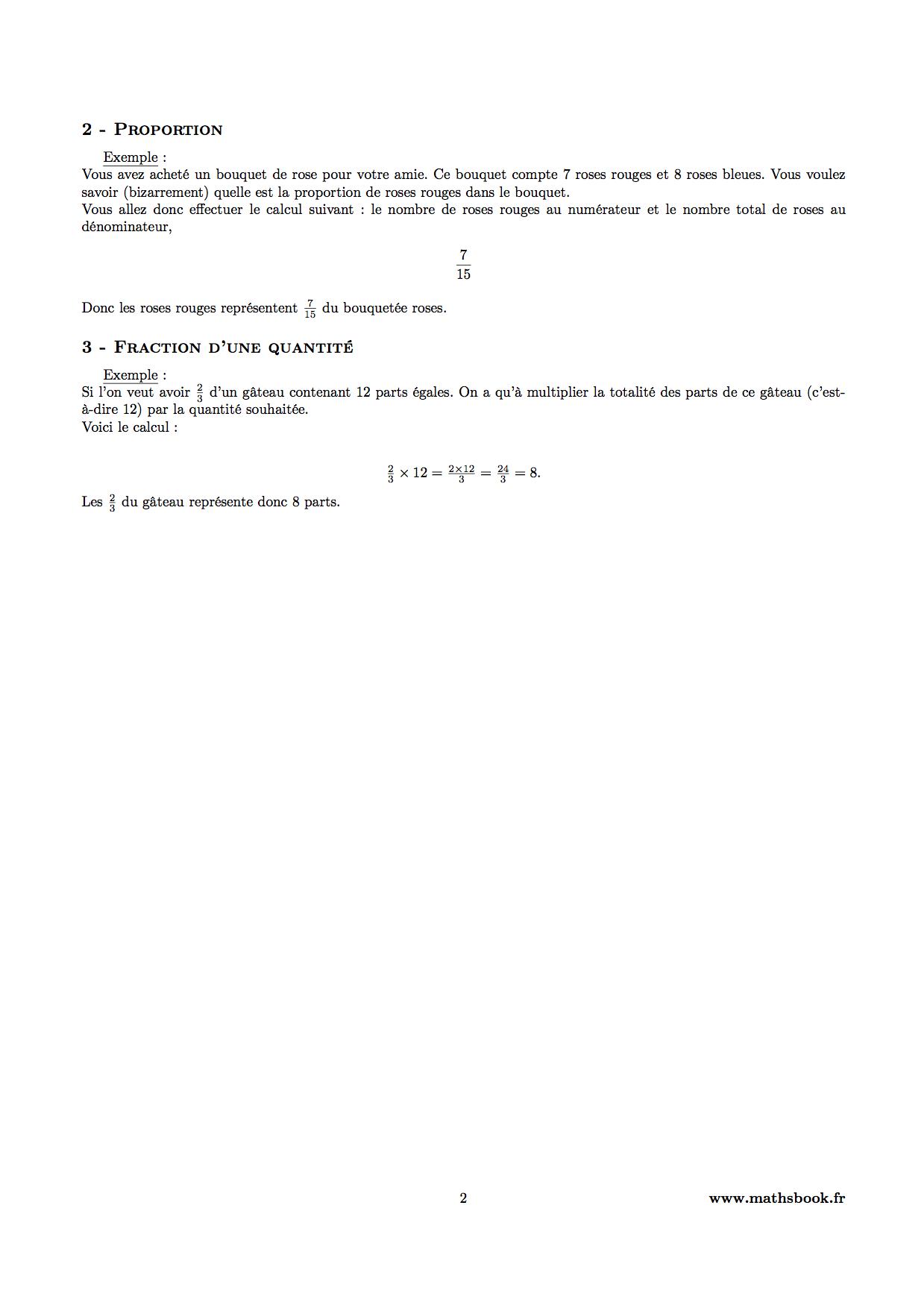 Très Fractions : Cours PDF à imprimer   Maths 6ème ZO39