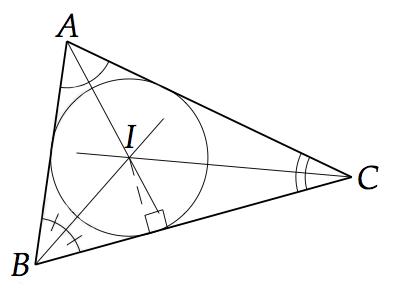 centre du cercle inscrit dans le triangle