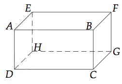 exemple de parallelepipede rectangle en perspective cavaliere