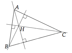 hauteurs d'un triangle
