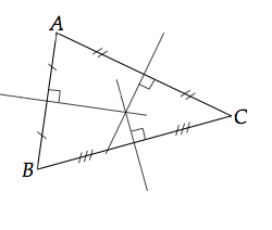 médiatrices d'un triangle