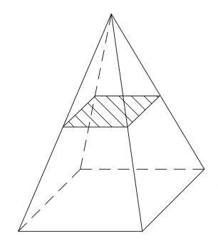 section plane d'une pyramide