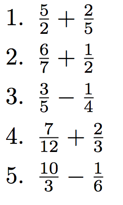 Additions et soustractions de fractions   Fractions ...