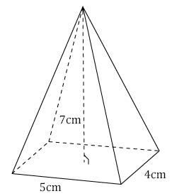 Calcul du volume d 39 une pyramide base rectangulaire for Calculer le volume d une maison